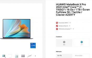Qu'est-ce qui séduit chez le Huawei x Matebook pro?